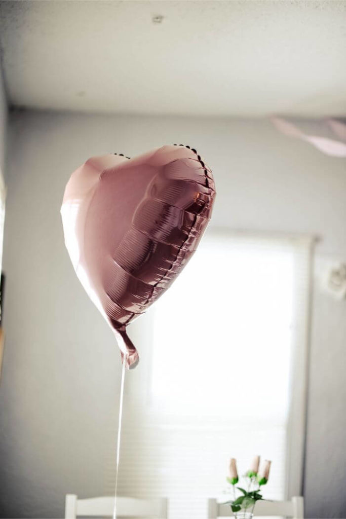 Pink heart-shaped balloons